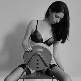 The Chair by Paul Hopkins - Nudes & Boudoir Boudoir