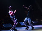 Black Motion duo performing.