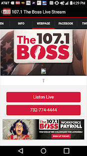 107.1 The Boss Live Stream- screenshot thumbnail