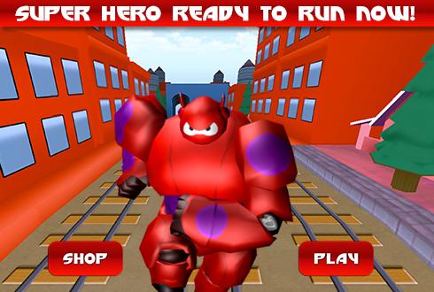 3D Subway Big Robot Run