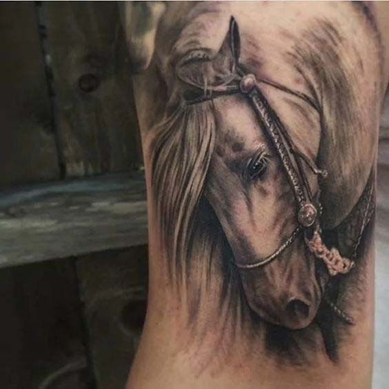 c73067a87 60 Best Horse Tattoos Designs and Ideas With Meanings