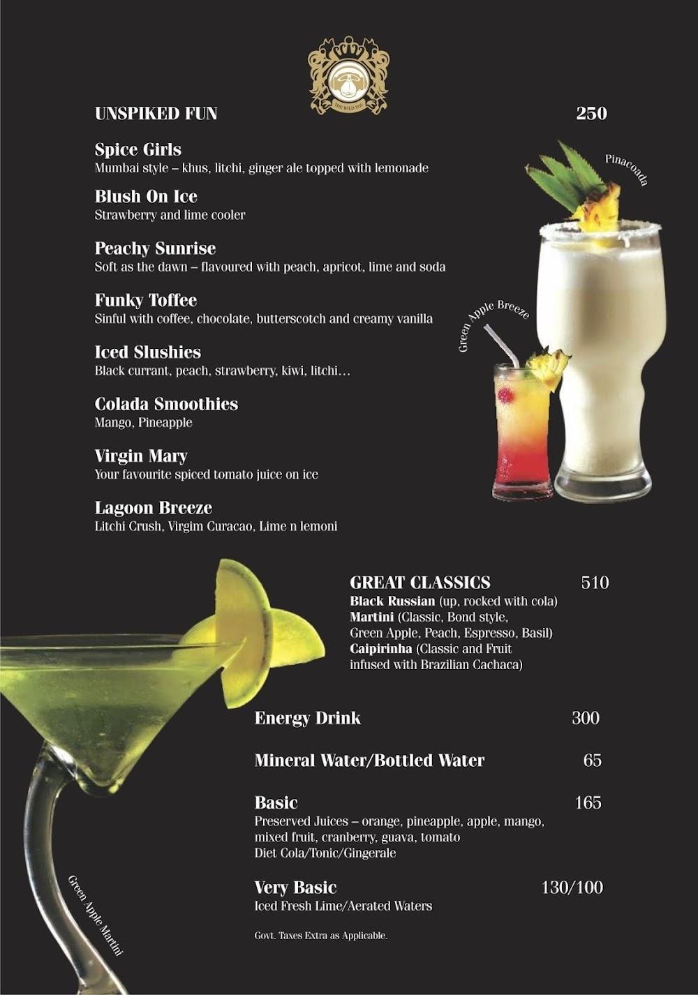 Brass Monkey menu 3