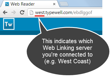 example of West Coast URL, with west at the beginning