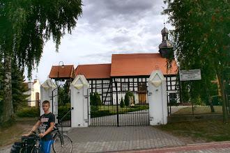 """Photo: """" Zdjęcie przedstawia szachulcowy kościół pw. św. Katarzyny Aleksandryjskiej zbudowany w 1826 roku. Kościół ten znajduje się na Szlaku pałuckich kościołów w miejscowości Brzyskorzystew, 9 km od Żnina w woj. kujawsko-pomorskim."""" - Wojtek"""