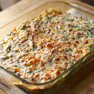 Cheesy Spinach Pasta.