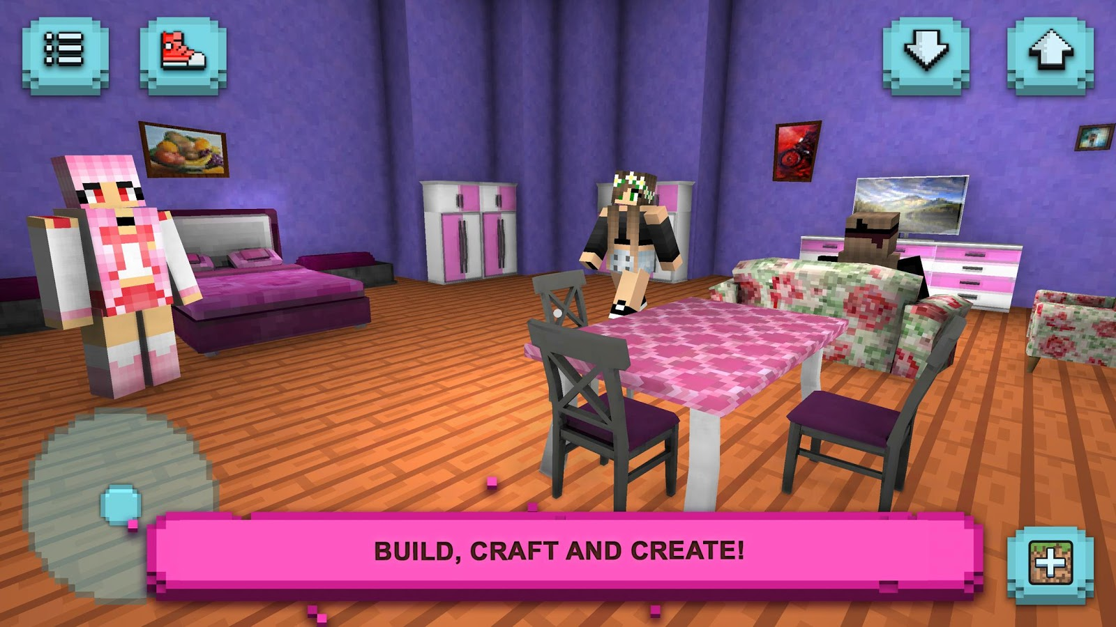 Girls exploration lite building craft chat android for Crafting and building 2
