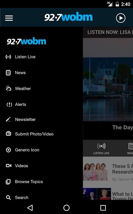 92.7 WOBM Radio - Ocean County- screenshot
