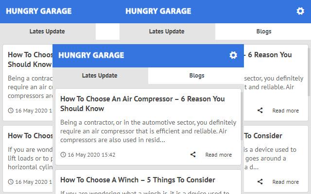 Hungry Garage - Latest News Update