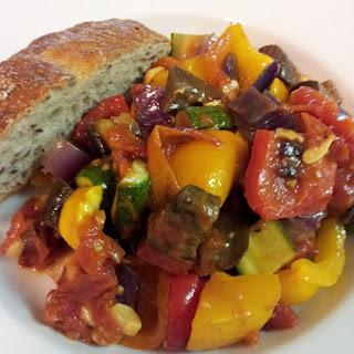 Oven Roasted Vegetable Ratatouille.