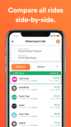 Bellhop - Get the fastest and Cheapest Rides 2.53 screenshots 1
