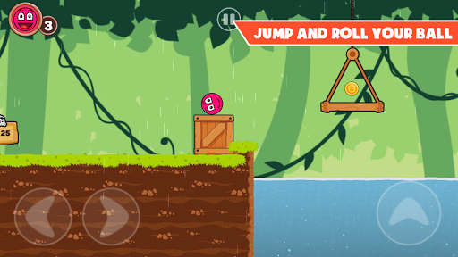 Roller Ball 3: Red Bounce Ball Love Adventure 2.3 screenshots 1