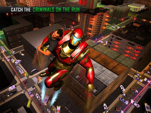Flying Robot Grand City Rescue Games (apk) free download for Android/PC/Windows screenshot