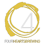 Logo for 4 Hearts Brewing Company