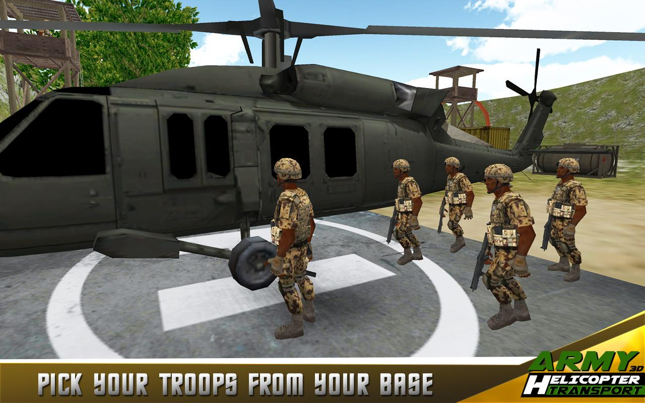 Army Helicopter Transporter 3D- screenshot