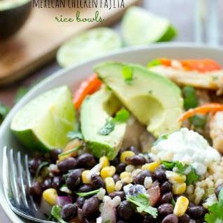 Mexican Chicken Fajita Rice Bowls.