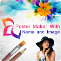 Poster Maker With Name and Image icon
