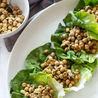 Pesto Chickpea Lettuce Wraps Recipe