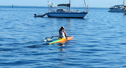 Photo: More common were these single outrigger canoes and they could move like the wind.