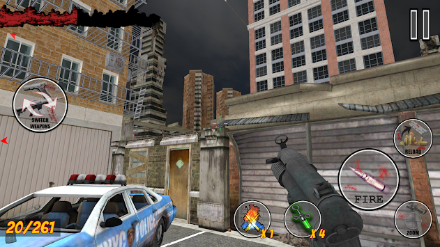 Dead Zombie Fighter : Survival Zombie Shooter Game apk screenshot