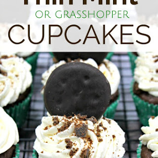 Thin Mint Chocolate Cupcake