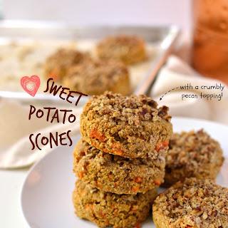 Pecan Crumble-topped Sweet Potato Scones