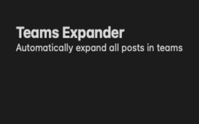 Teams Expander
