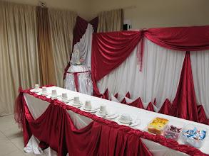 Photo: Sn4HR0205-160202Dakar, Pouponnière, fond de salle, éléments du petit déjeuner préparés IMG_0958