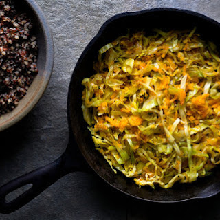 Sautéed Shredded Cabbage and Squash