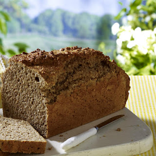 Sweet Almond Spelt Bread with Berry Jam