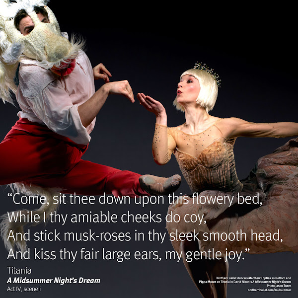 Photo: Northern Ballet dancers Matthew Topliss & Pippa Moore. Photo Jason Tozer.
