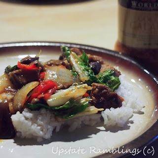 Thai Pork with Coconut Galangal Sauce.