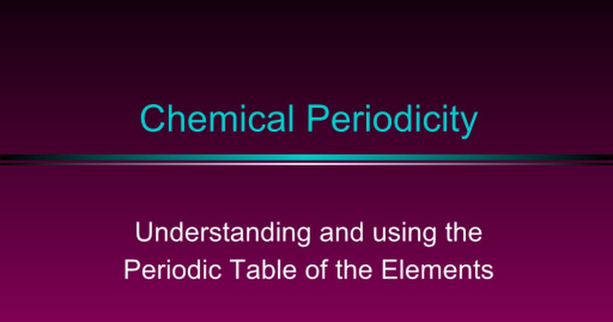 Periodic Table Google Slides