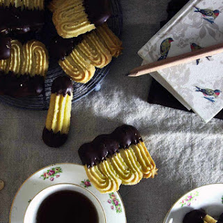 Chocolate Dipped Viennese Biscuits.