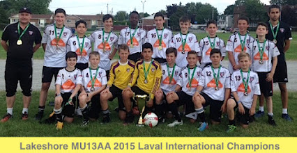 Photo: 2015 M13AA Laval Tournament Champions