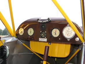 Photo: Le tableau de bord du Taylorcraft J-2 Cub