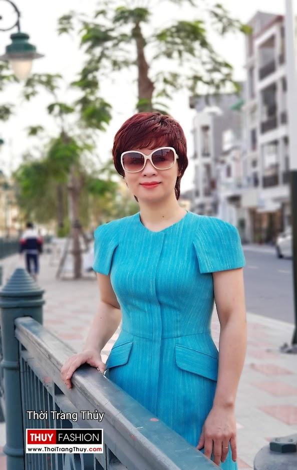Váy xòe chữ A mặc công sở và dạo phố V700 thời trang thủy đà nẵng