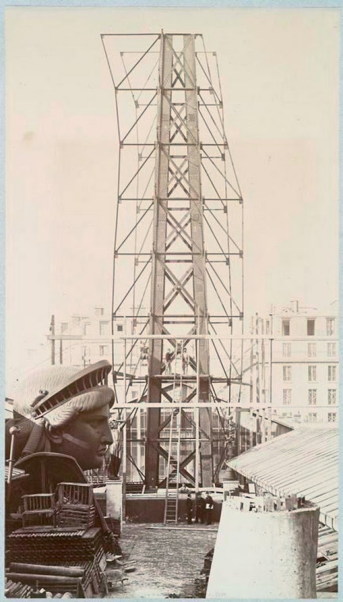 Albert Fernique, Scaffolding for the assemblage of the Statue of Liberty