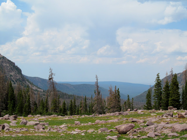 View out of Amethyst Basin