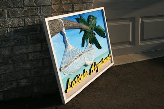 Photo: Latitude Adjustment for Beach house in NC North Carolina, more carved signs at www.nicecarvings.com