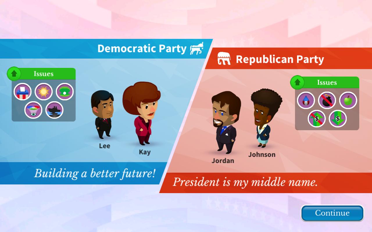 Win the White House – zrzut ekranu