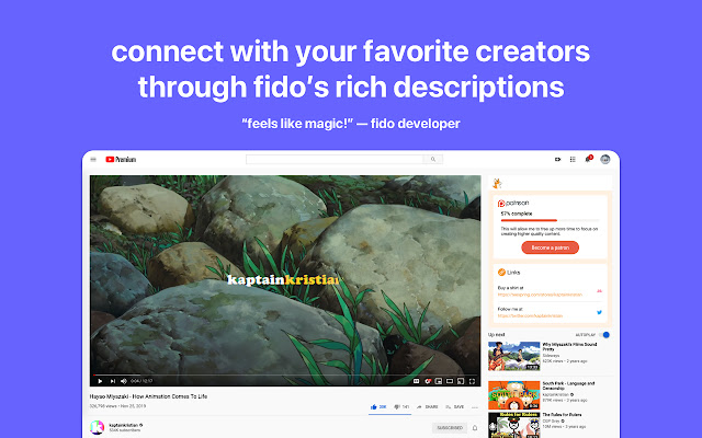 Fido - Rich Youtube Descriptions