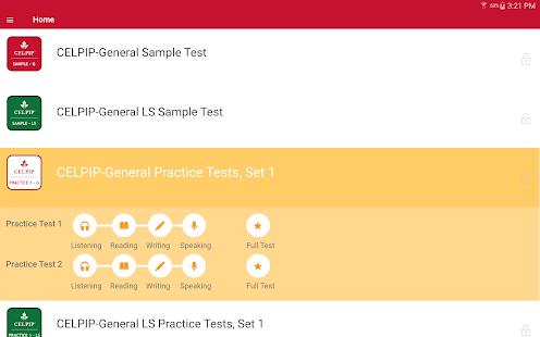 CELPIP® Practice Test screenshot