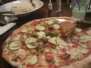 Photo: Then I came back to life and ate this pizza*.  * May not have eaten entire pizza. May have come home with 3/4 of it, and one of the 'breaded cheese' things.
