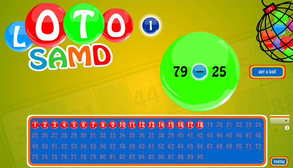 Loto SAMD, puzzle game.- screenshot