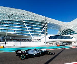Bottas trekt sterk seizoenseinde door in Abu Dhabi, spektakel alom in eerste oefensessies