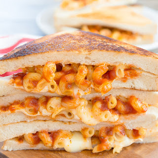 Spaghetti Grilled Cheese Sandwiches