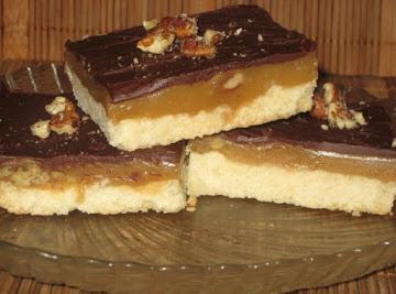 Caramel Nut Squares Recipe
