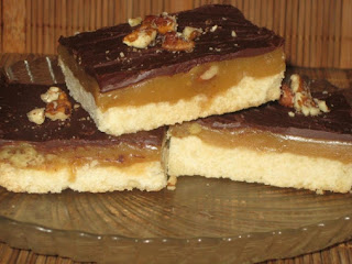 Caramel Nut Squares Recipe