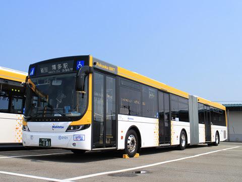 西鉄 福岡都心連節バス 0101 中央ふ頭にて その1