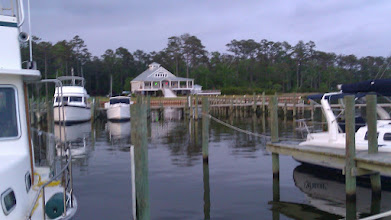 Photo: Whitaker Point Marina clubhouse from our slip.